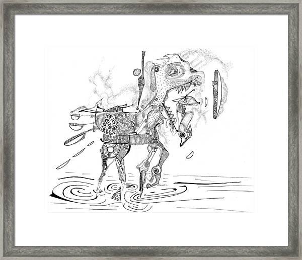 Merry-go-round Horse Framed Print