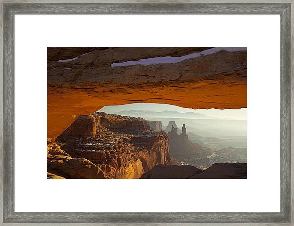 Mesa And Washer Woman Arches Framed Print