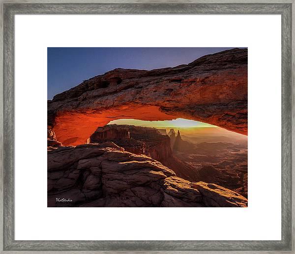 Mesa Arch At Sunrise 1, Canyonlands National Park, Utah Framed Print