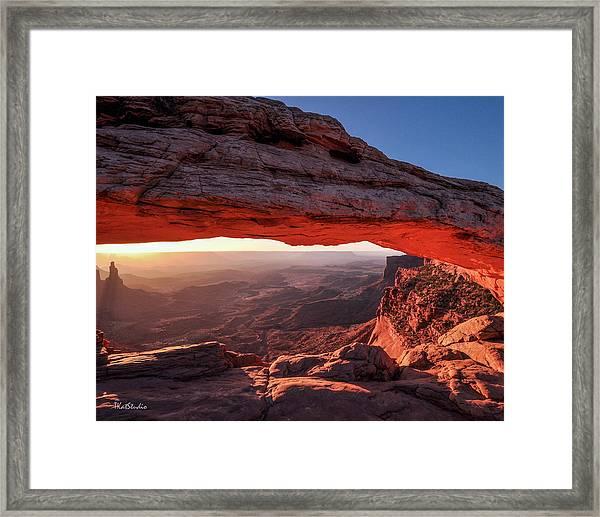 Mesa Arch At Sunrise 2, Canyonlands National Park, Utah Framed Print