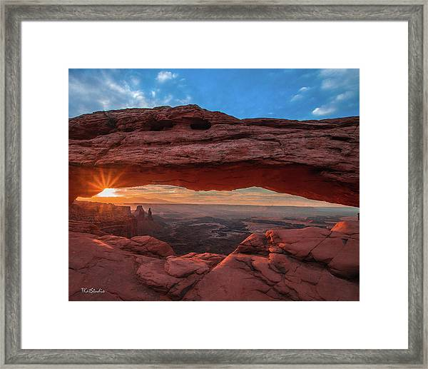 Mesa Arch At Sunrise 3, Canyonlands National Park, Utah Framed Print