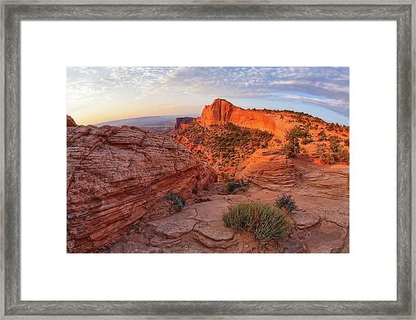Mesa Arch Overlook At Dawn Framed Print