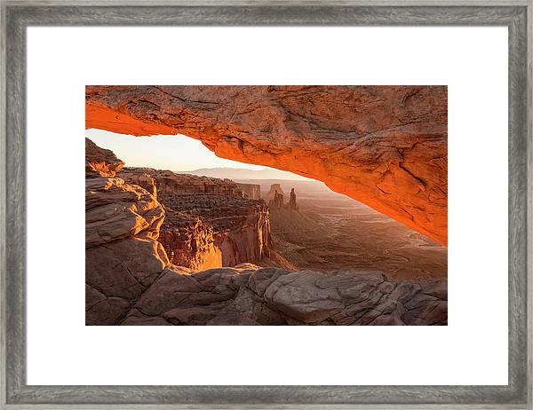 Mesa Arch Sunrise 5 - Canyonlands National Park - Moab Utah Framed Print