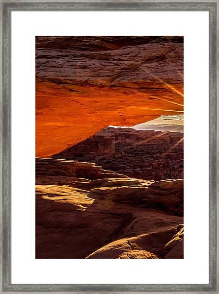 Mesa Arch Triptych Panel 1/3 Framed Print