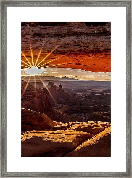 Mesa Arch Triptych Panel 2/3  Framed Print