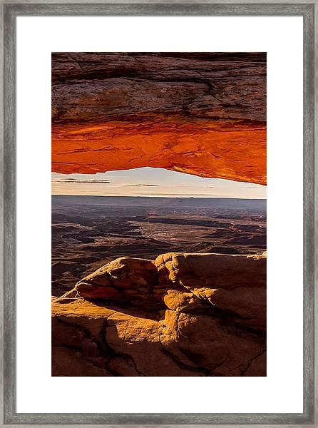 Mesa Arch Triptych Panel 3/3 Framed Print