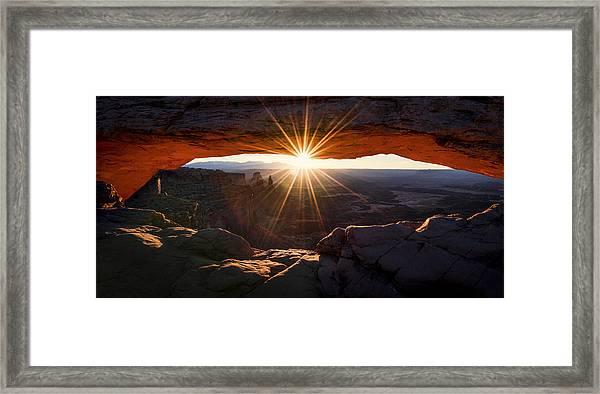 Mesa Glow Framed Print