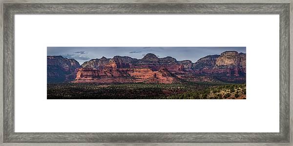 Mescal Mountain Panorama Framed Print
