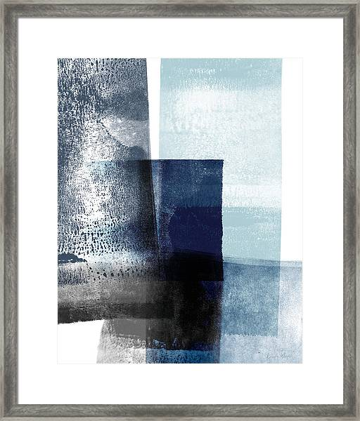 Mestro 4- Abstract Art By Linda Woods Framed Print