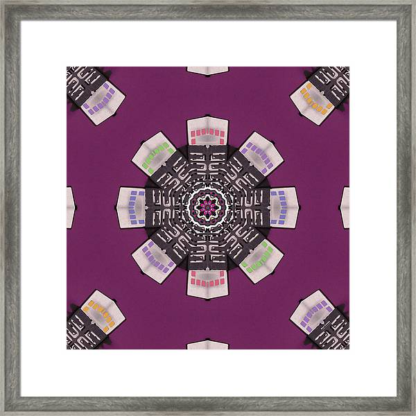 Framed Print featuring the digital art Metal 51430k8 by Brian Gryphon