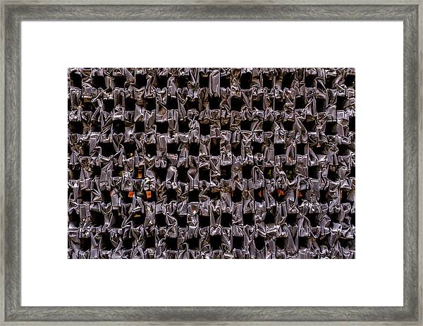 Metal Faces In Downtown Winter Park Florida Framed Print