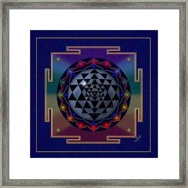 Metal Mandala Framed Print