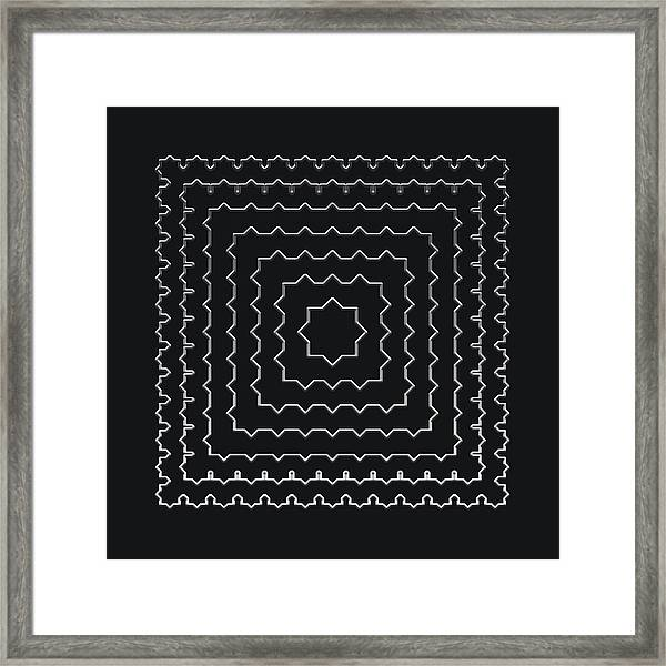 Metallic Lace Ai Framed Print