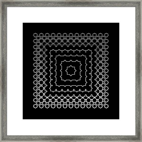Metallic Lace Aii Framed Print