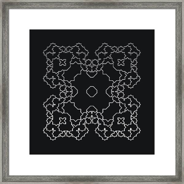 Metallic Lace Aiv Framed Print
