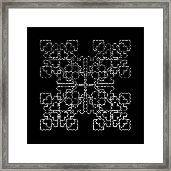 Metallic Lace Av Framed Print