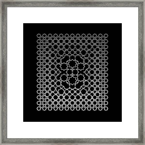 Metallic Lace Axxxv Framed Print