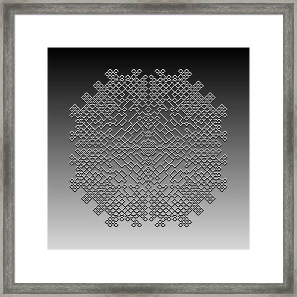 Metallic Lace Cxxix Framed Print