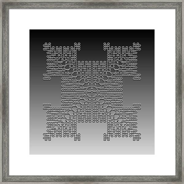 Metallic Lace Cxxx Framed Print