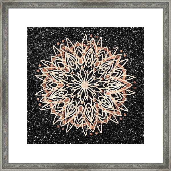 Metallic Mandala Framed Print