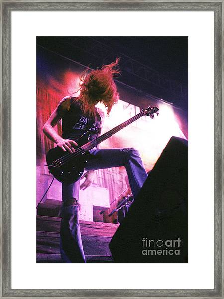 Metallica 1986 Cliff Burton Framed Print