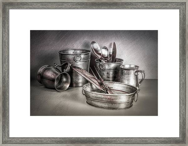 Metalware Still Life Framed Print
