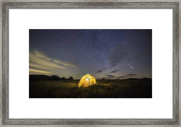 Meteor  Framed Print by Michael Donahue
