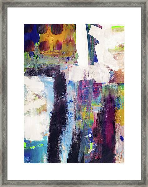 Metro 1- Abstract Art By Linda Woods Framed Print