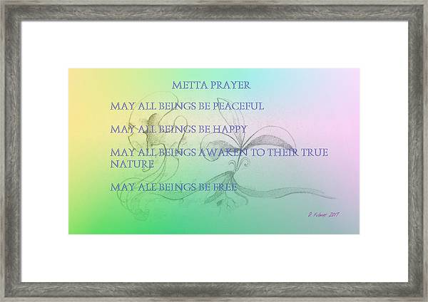 Metta Prayer Framed Print