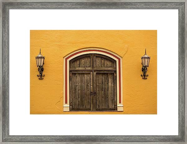 Mexican Door Framed Print