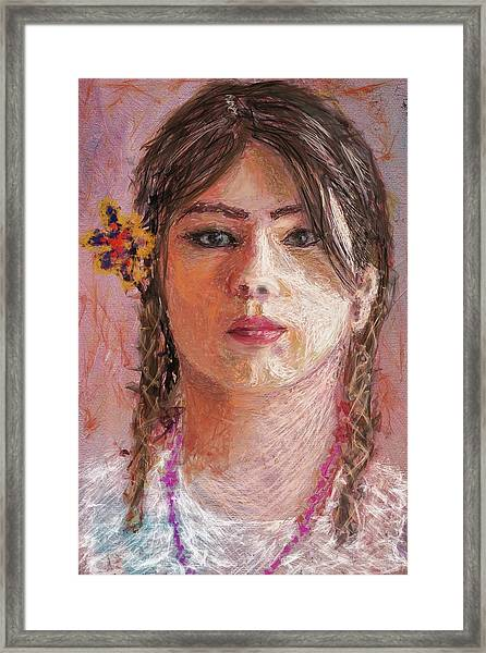 Mexican Girl Framed Print