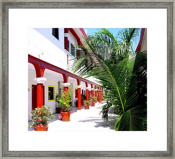 Mexican Hacienda Framed Print
