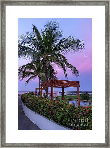 Mexican Moonrise Mexican Art By Kaylyn Franks Framed Print