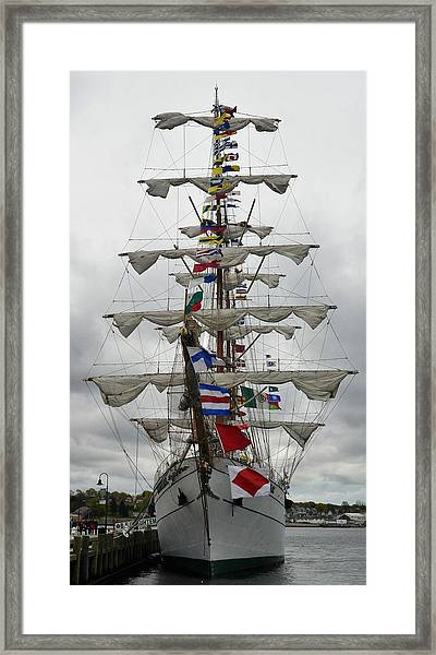 Mexican Navy Ship Framed Print