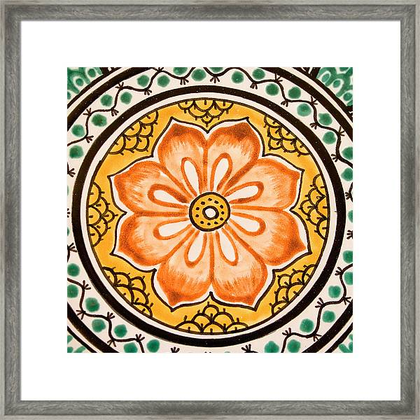 Mexican Tile Detail Framed Print