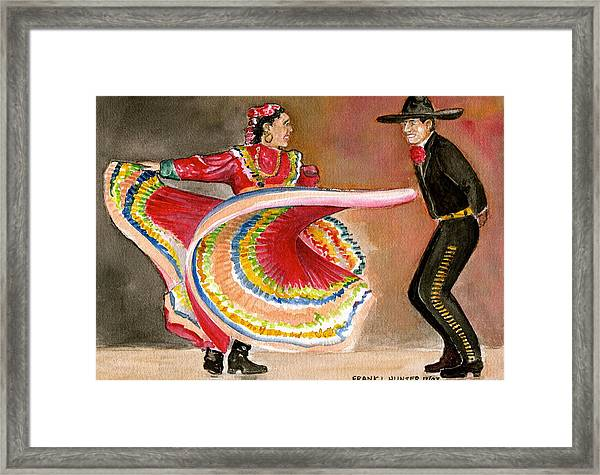 Mexico City Ballet Folklorico Framed Print