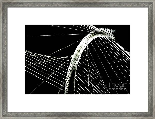 Mhhbridge Morning Fog Framed Print