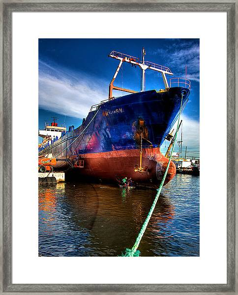 Miami River Framed Print