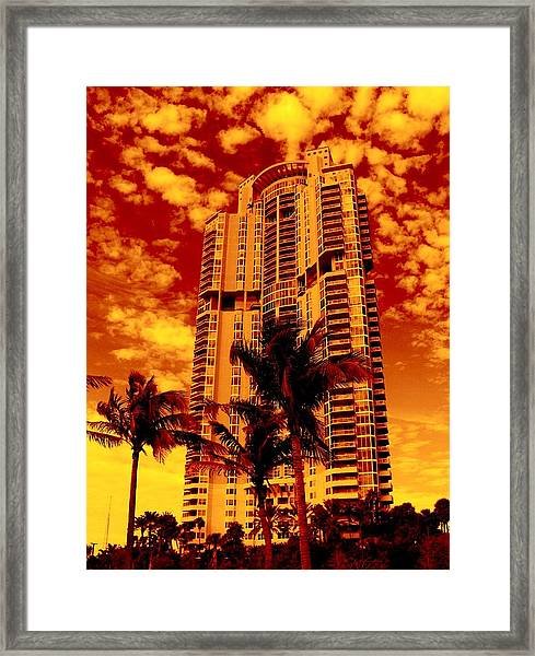 Miami South Pointe IIi Highrise Framed Print