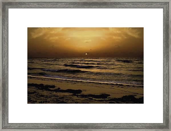 Miami Sunrise Framed Print