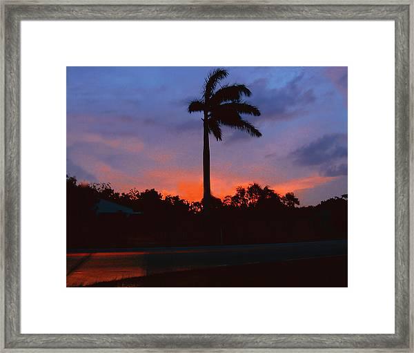 Miami Sunset Framed Print