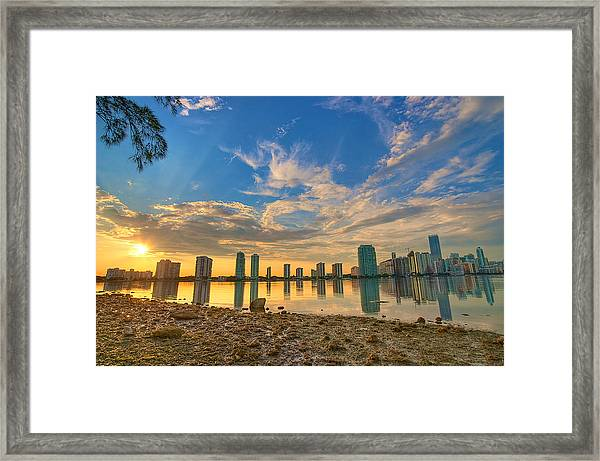 Miami Sunset Framed Print by William Wetmore