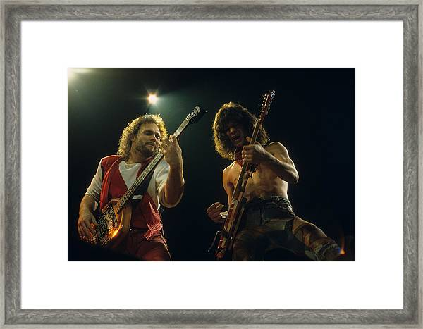 Michael And Eddie Framed Print
