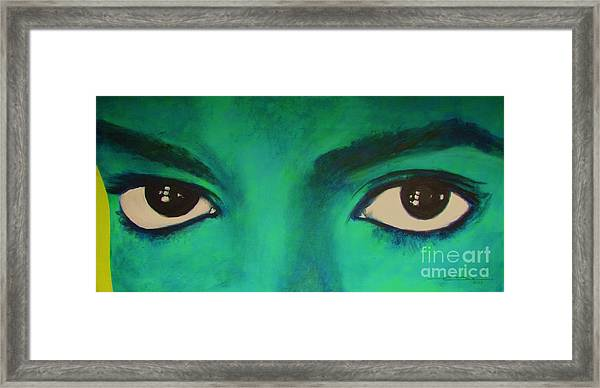 Michael Jackson - Eyes Framed Print