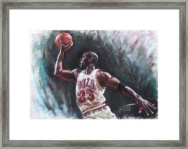 ebc7004394d Michael Jordan Portrait Framed Art Prints | Fine Art America