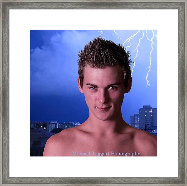 Michael Phelps - Warlock Framed Print