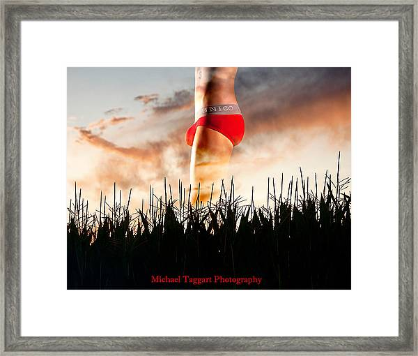 Framed Print featuring the photograph Michael Phelps Sunset by Michael Taggart