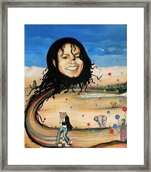 Michael's World Framed Print
