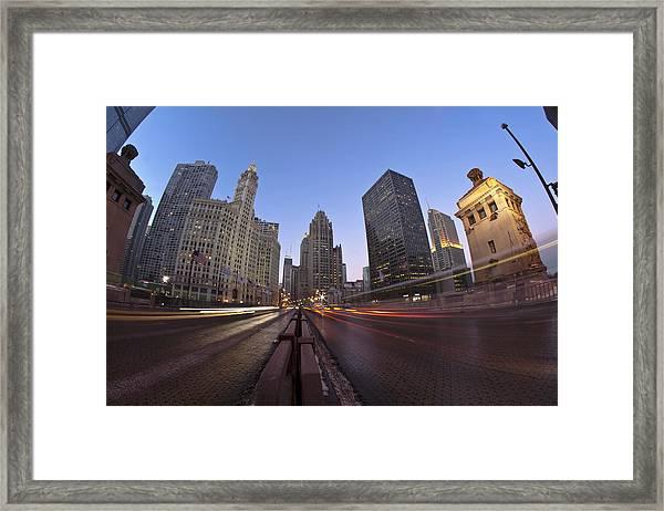 Michgan Avenue Action Framed Print