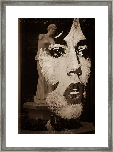 Mick Black And White Framed Print